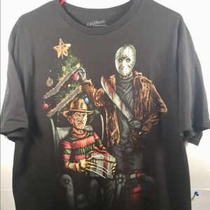 Other - Freddy Krueger & Jason Christmas T Shirt Men Sz XL